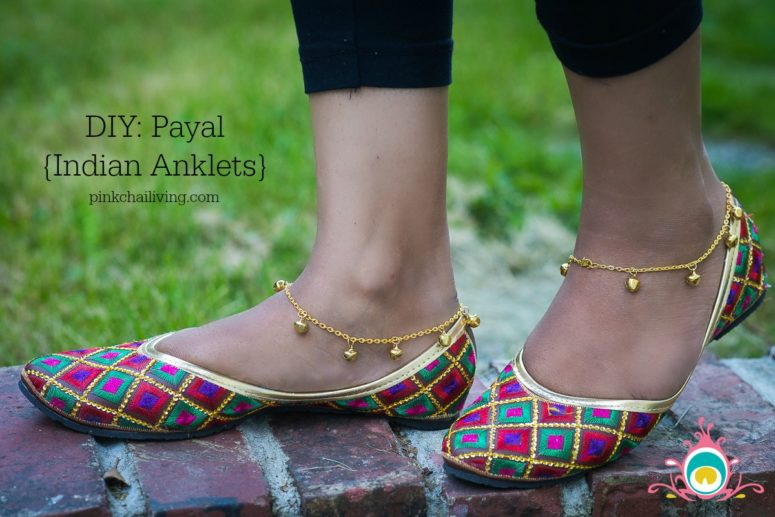DIY payal anklets (via www.pinkchailiving.com)