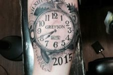 Clock tattoo with important date
