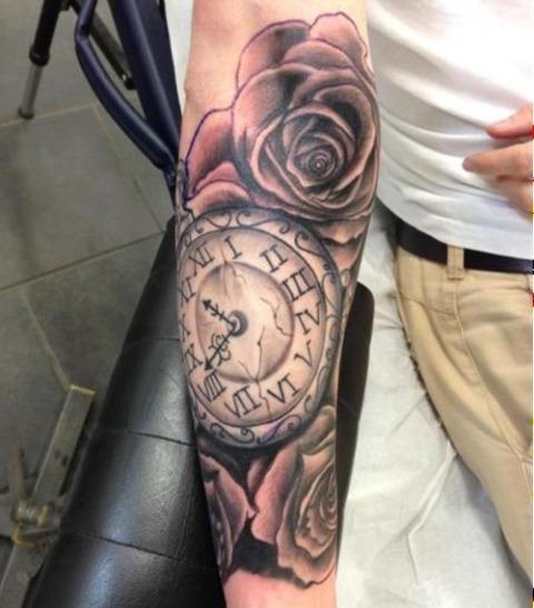 21 Gorgeous Clock Tattoo Ideas For Men