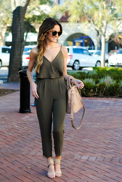 736ecbe5d31 21 Olive Green Romper And Jumpsuit Outfits For Ladies - Styleoholic