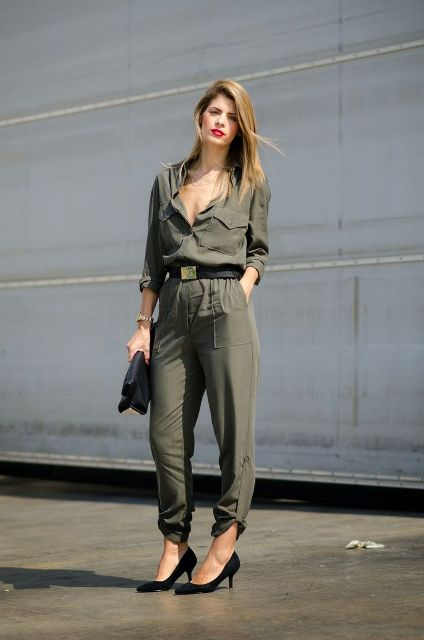 f6b6f087b783 21 Olive Green Romper And Jumpsuit Outfits For Ladies - Styleoholic
