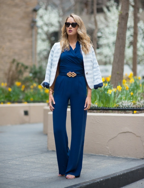 26dcb37f769 22 Navy Blue Romper And Jumpsuit Outfits - Styleoholic