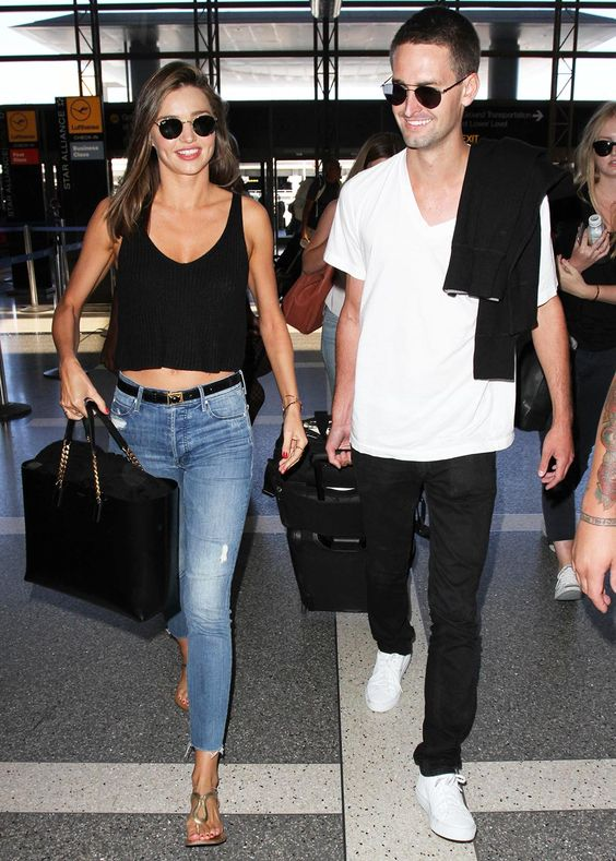 black jeans, a white tee and white sneakers   no one needs more for comfort