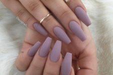 09 matte lavender nails for a romantic feel