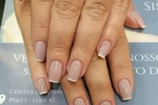 10 French square nails are classics suitable for any case