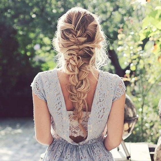 a messy long braid won't make you feel very hot
