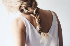 13 a simple loose braid is what will save you from the heat