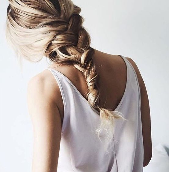 a simple loose braid is what will save you from the heat