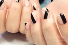 nail art with negative spaces