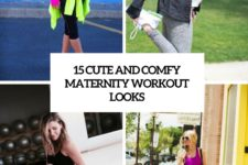 15 cute and comfy maternity workout looks cover