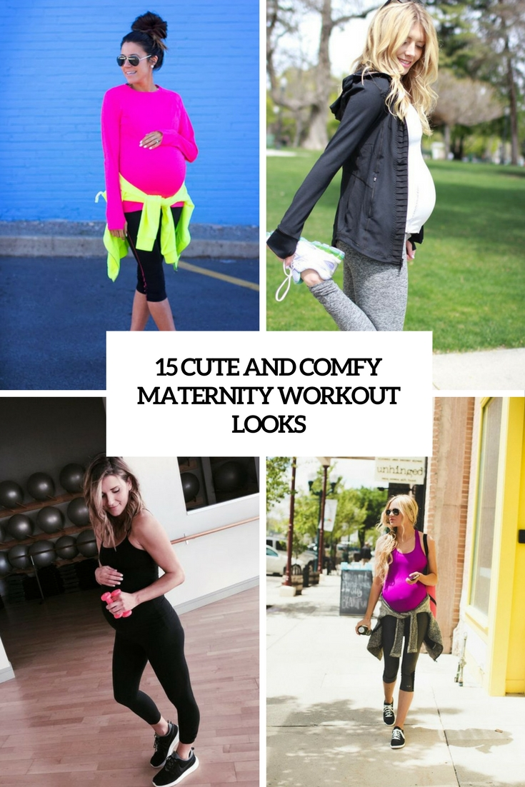 15 Cute And Comfy Maternity Workout Looks