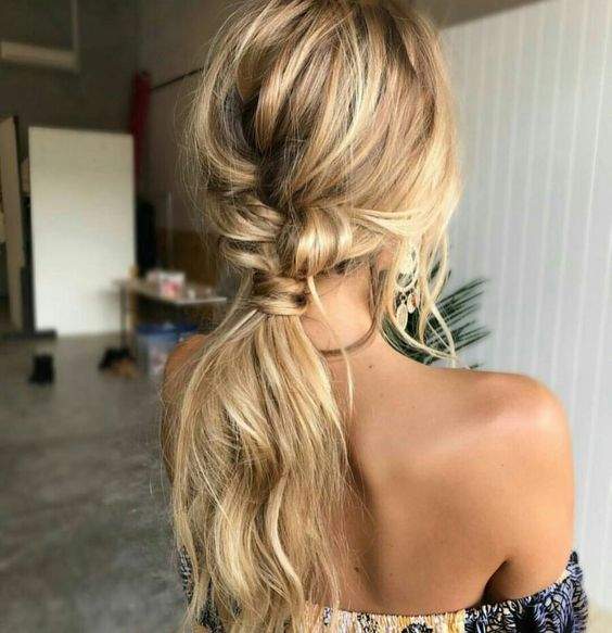 Picture Of Loose Low And Messy Ponytail Is Easy To Make Yourself