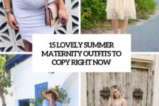 15 lovely summer maternity outfits to copy right now cover