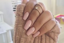 15 pink manicure with two rhinestones for an accent look cute