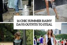 16 chic summer rainy day outfits to steal cover