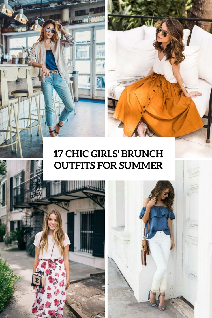 17 Chic Girls' Brunch Outfits For Summer