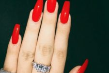 18 red coffin nails look very hot and sexy