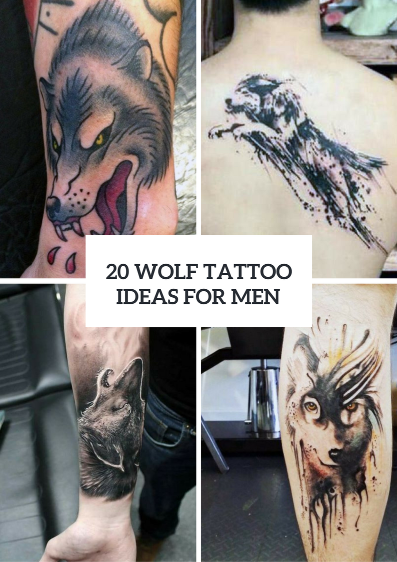 Creative Wolf Tattoo Ideas For Men