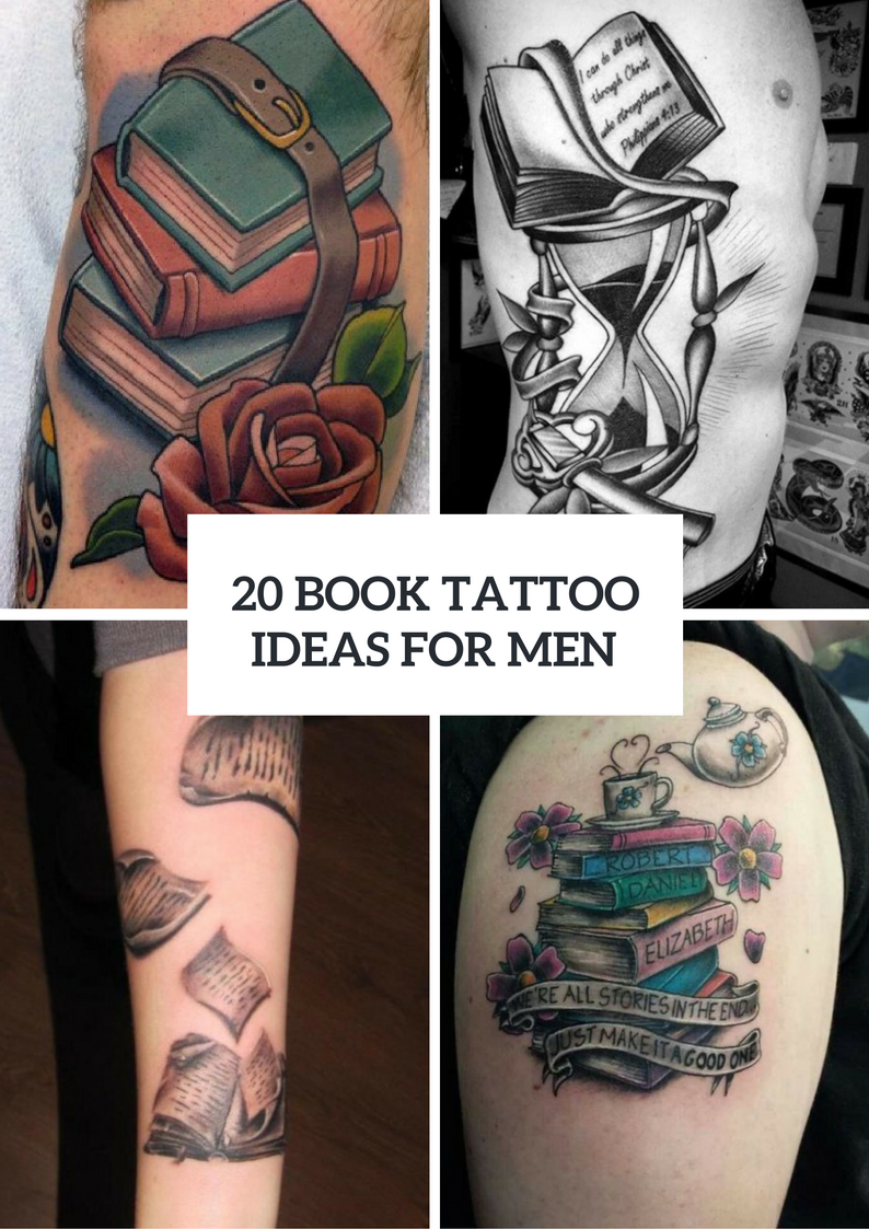 Men Book Tattoo Ideas To Try