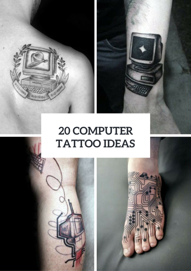 20 Men Computer Inspired Tattoo Ideas To Repeat Styleoholic