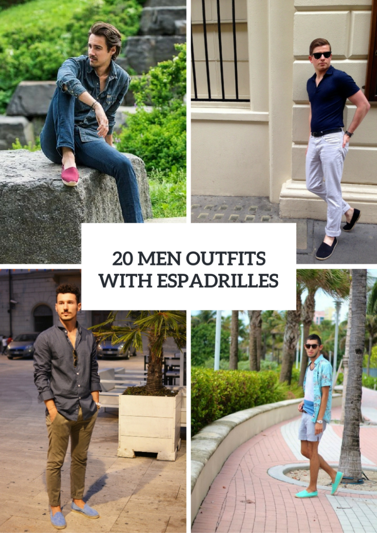 20 Summer Men Outfits With Espadrilles
