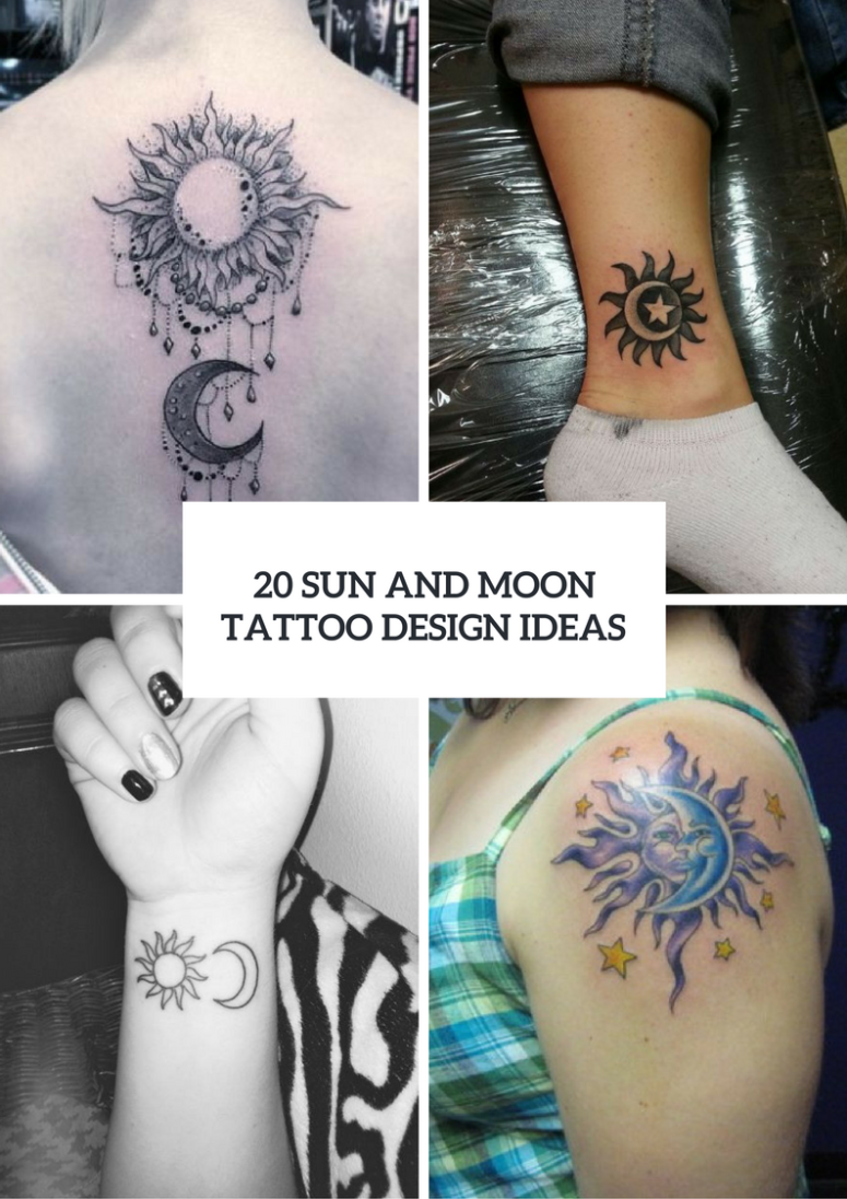 Sun And Moon Tattoo Ideas For Ladies
