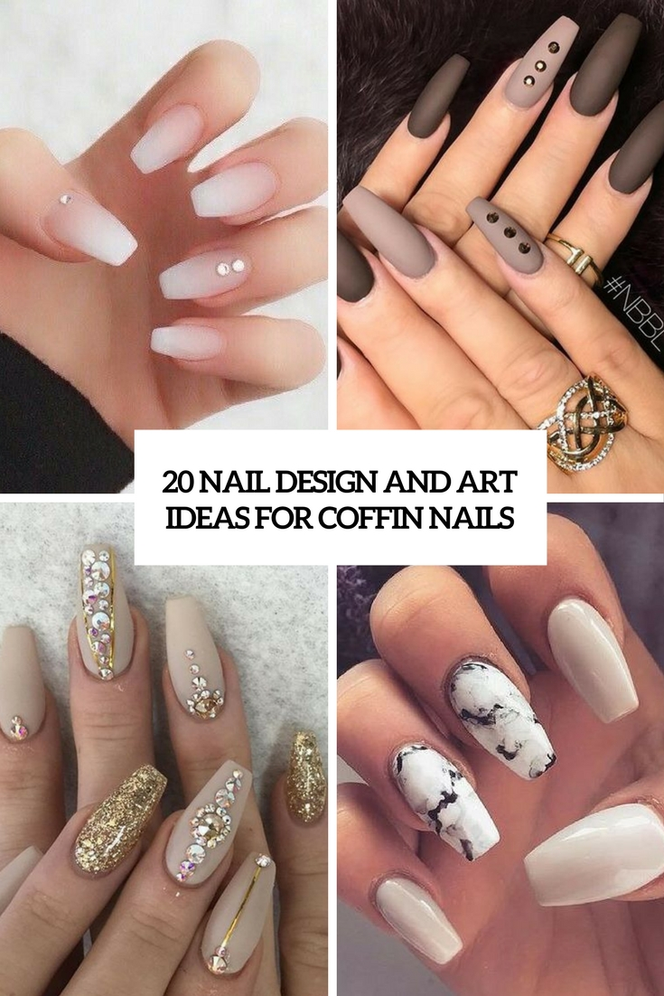20 nail design and art ideas for coffin nails - Nail Design Ideas