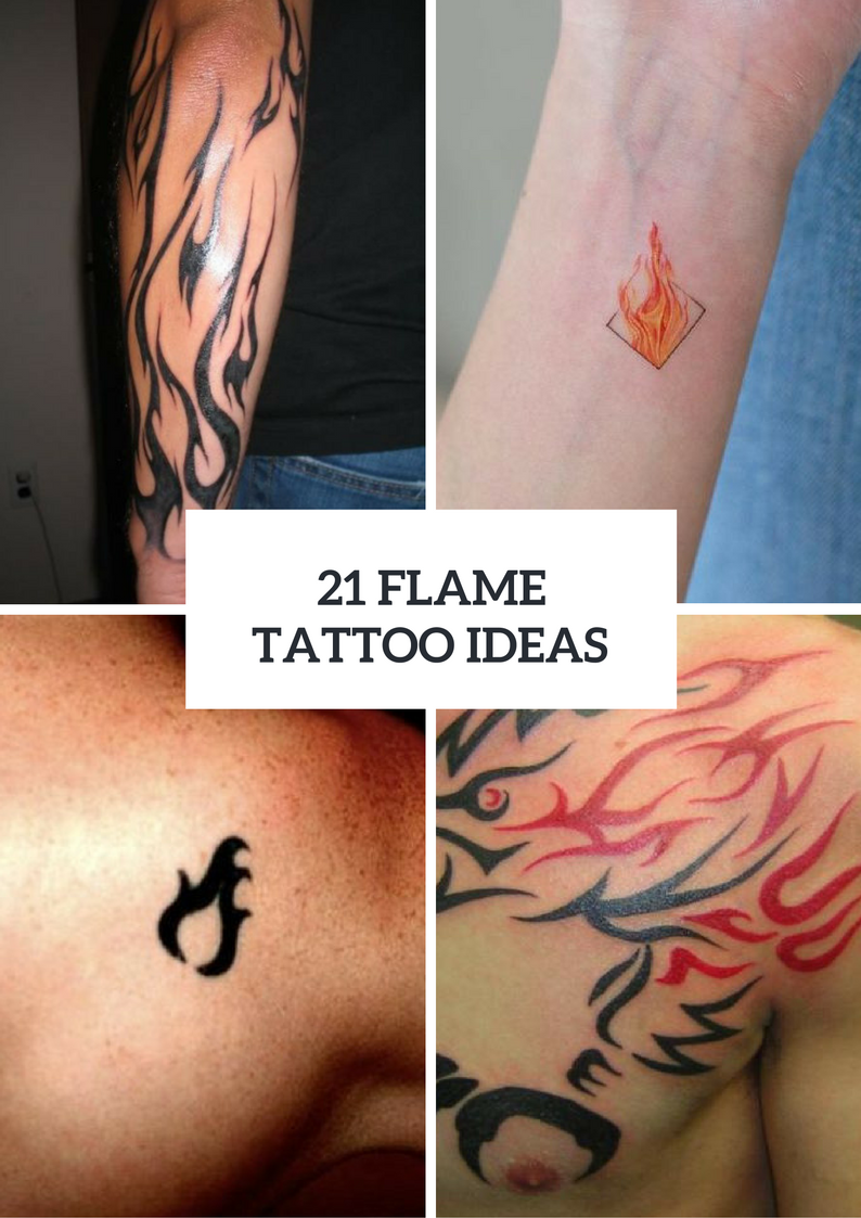 Flame Tattoo Ideas For Men