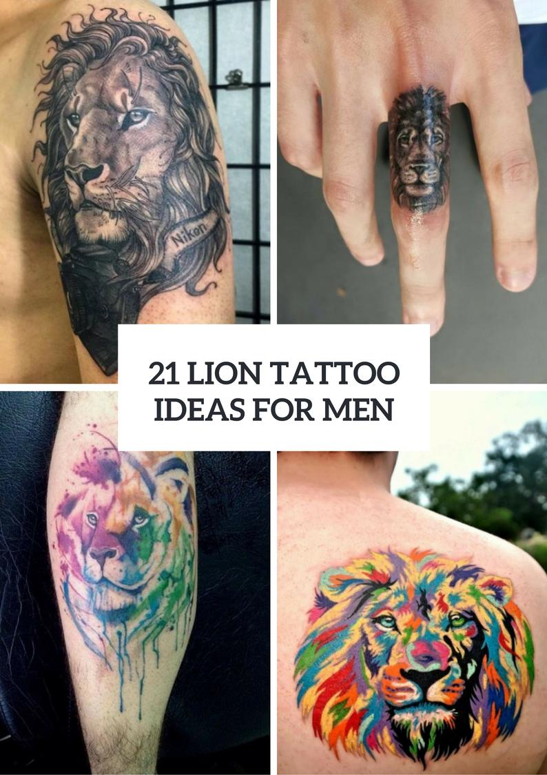 Gorgeous Lion Tattoo Ideas For Men