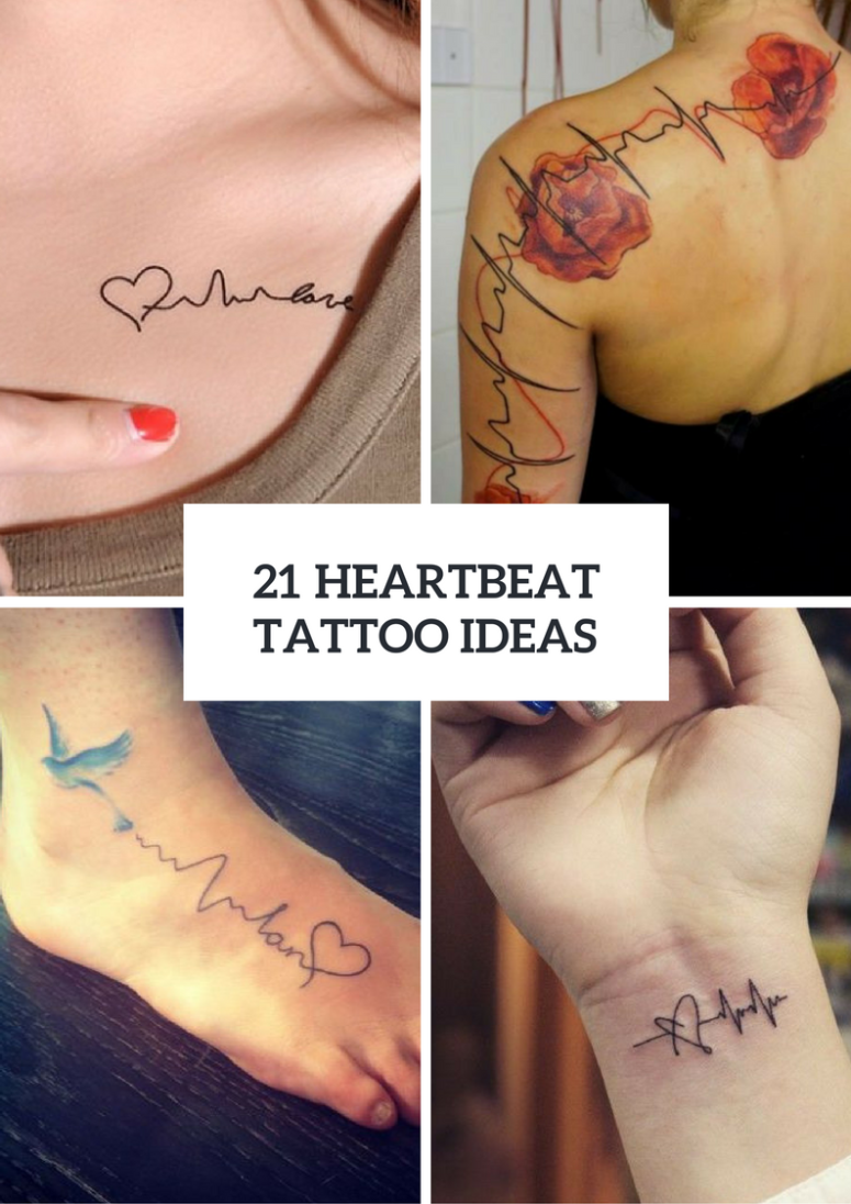 Heartbeat Tattoo Design Ideas For Ladies