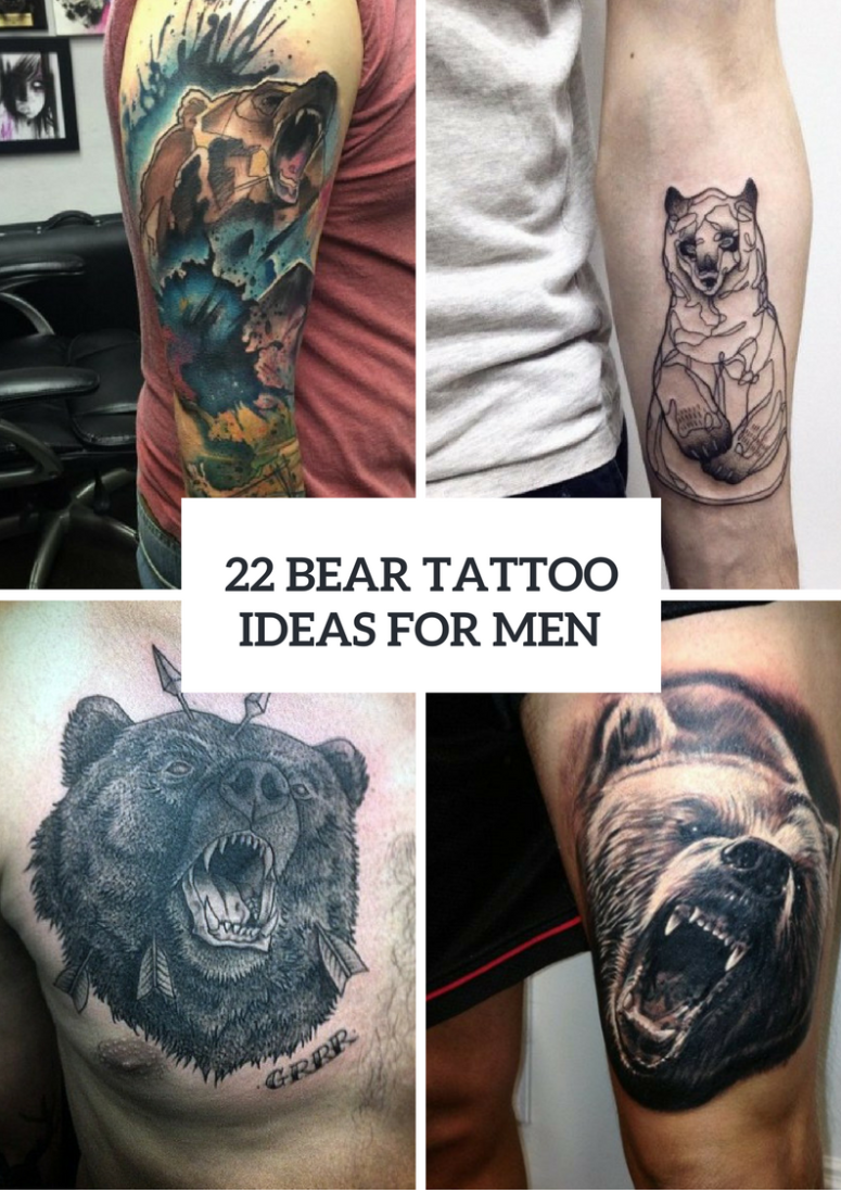 Bear Tattoo Ideas For Real Men