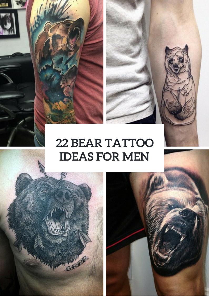 Bear Tattoo Ideas For Real Men
