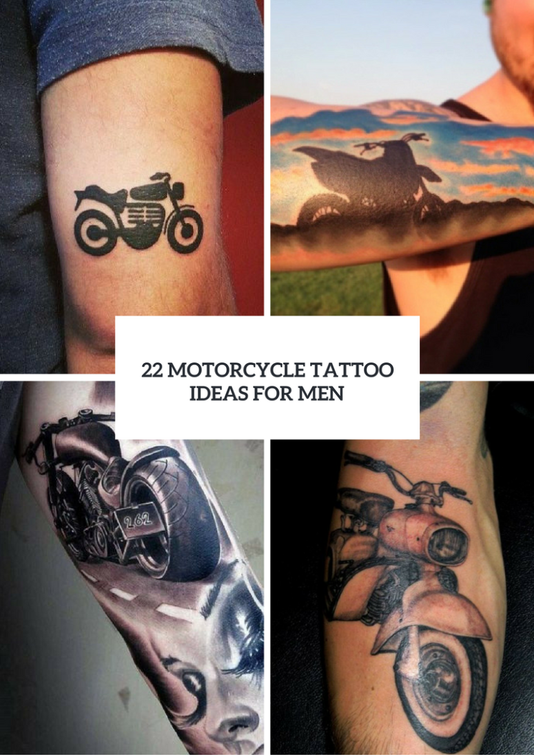 22 men motorcycle tattoo ideas to repeat styleoholic. Black Bedroom Furniture Sets. Home Design Ideas