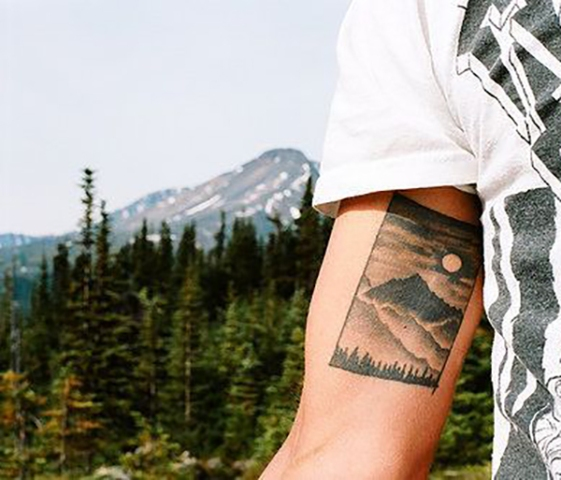 Beautiful tattoo on the arm