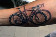 Bicycle with shadow effect tattoo