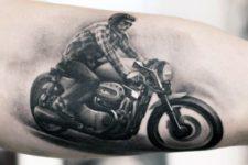 Biker on the motorcycle tattoo