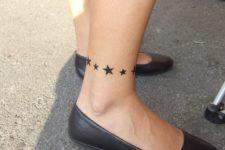 Bracelet tattoo design with stars