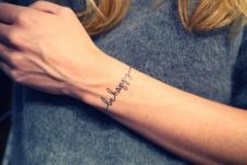 Bracelet tattoo with important words