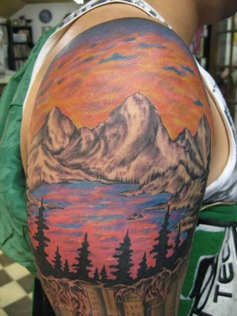Breathtaking half-sleeve tattoo