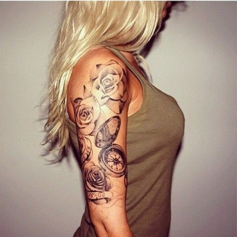 22 Cute Clock Tattoo Ideas For Women Styleoholic
