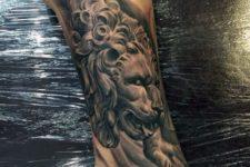 Cool tattoo on the leg