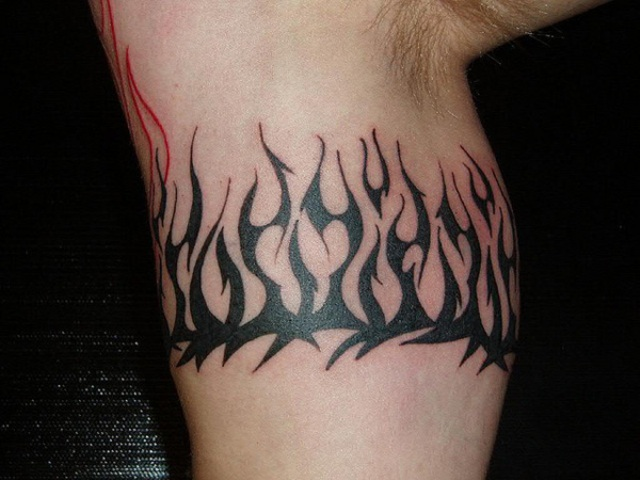Flame armband tattoo