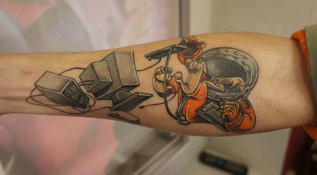 Funny tattoo design
