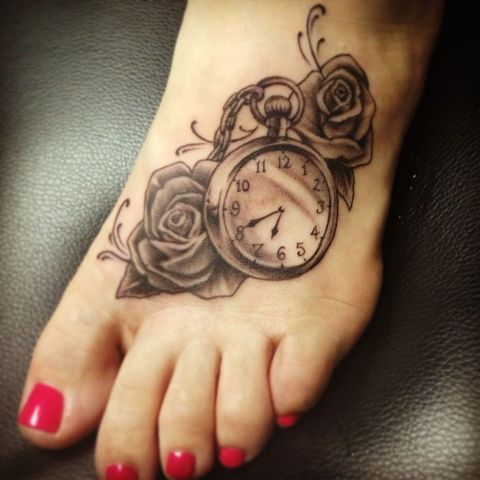 Gentle tattoo on the foot