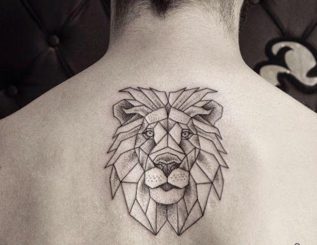 Geometric tattoo on the back