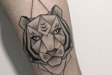 Geometric tiger tattoo