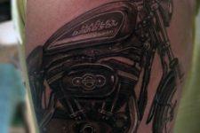 Harley Davidson tattoo on the arm