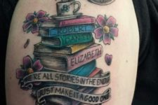 Kids names on the books tattoo