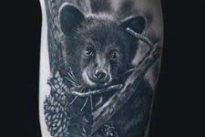 Little black bear tattoo