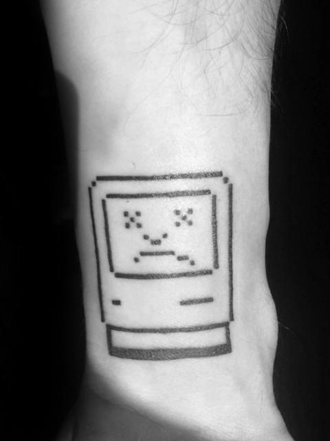 Minimalistic Mac computer tattoo
